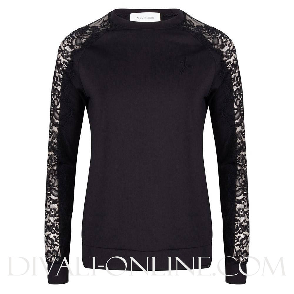 Sweater Traveller Lace Black