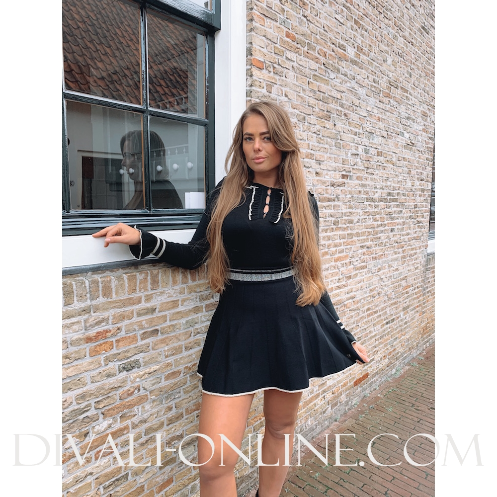 Skirt Lurex Detail Black