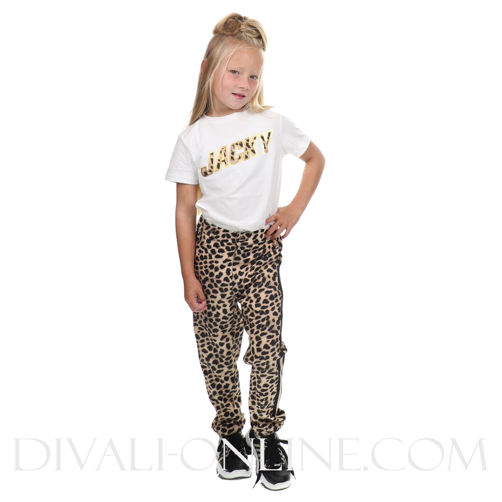 T-Shirt Leopard Artwork White