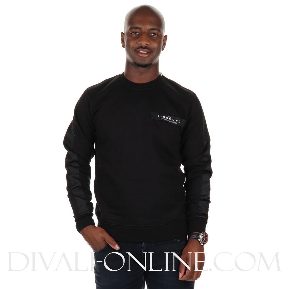 Sweater black pouse logo
