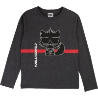Karl Lagerfeld Kids T-shirt Gris Chine