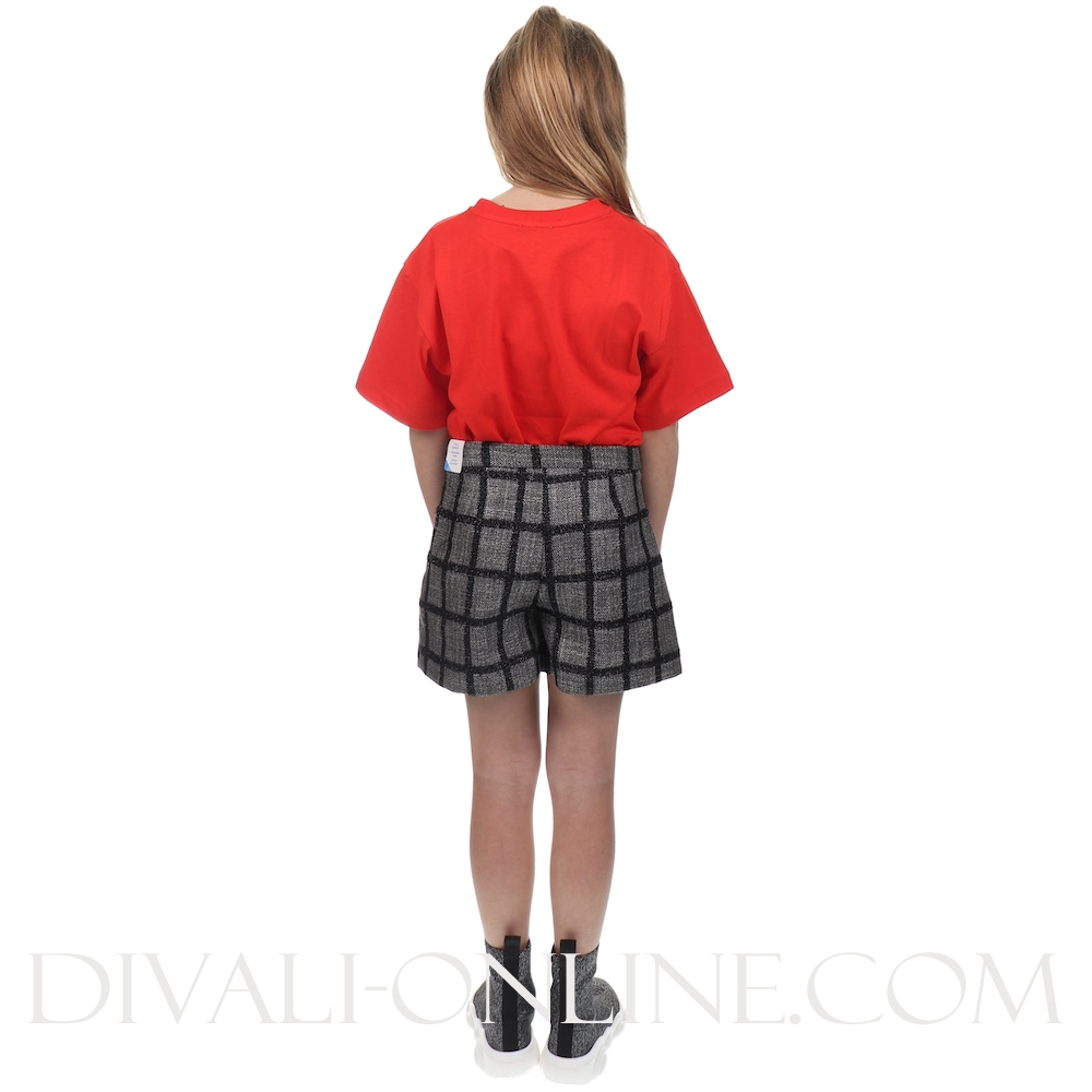 Checkered shorts black