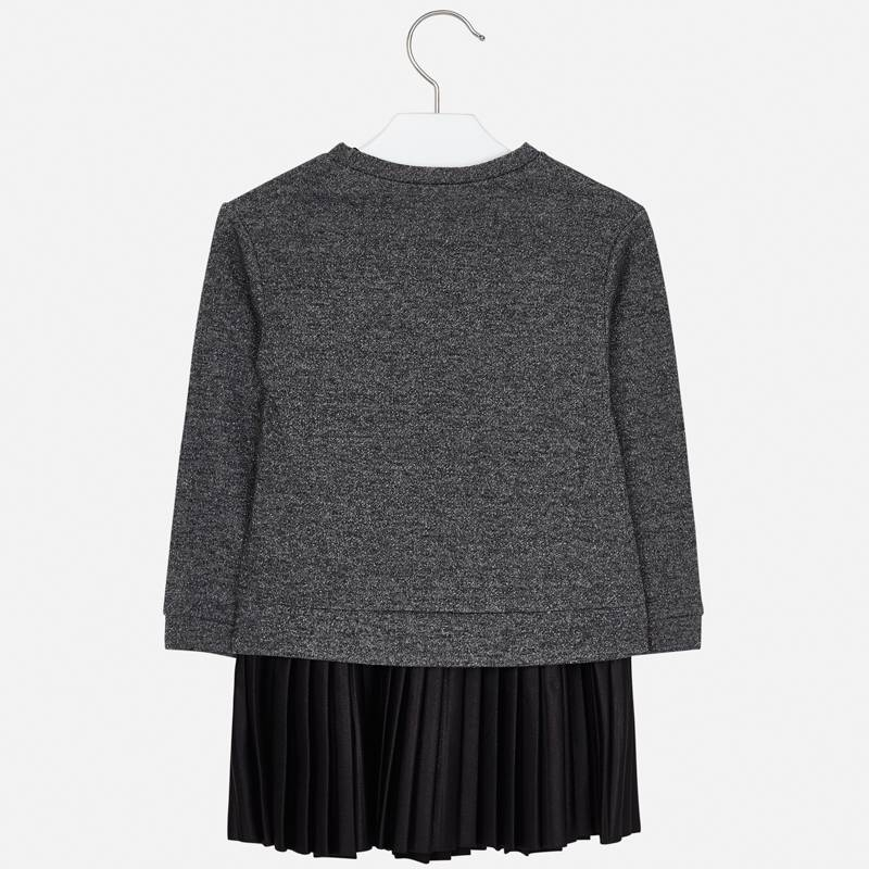 Pleated dress black