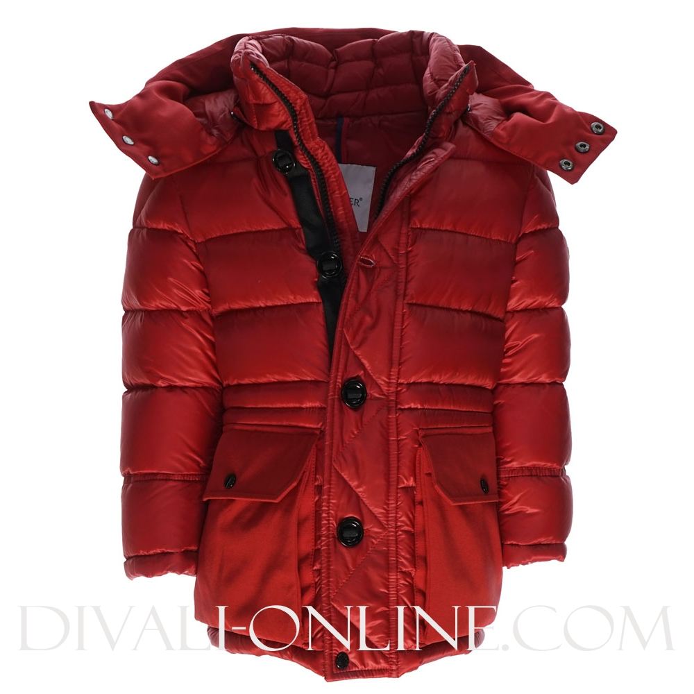 Boys Winterjas Jourdan Gewatteerd Red