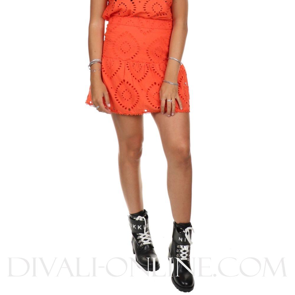 Reeva Skirt Tangerine