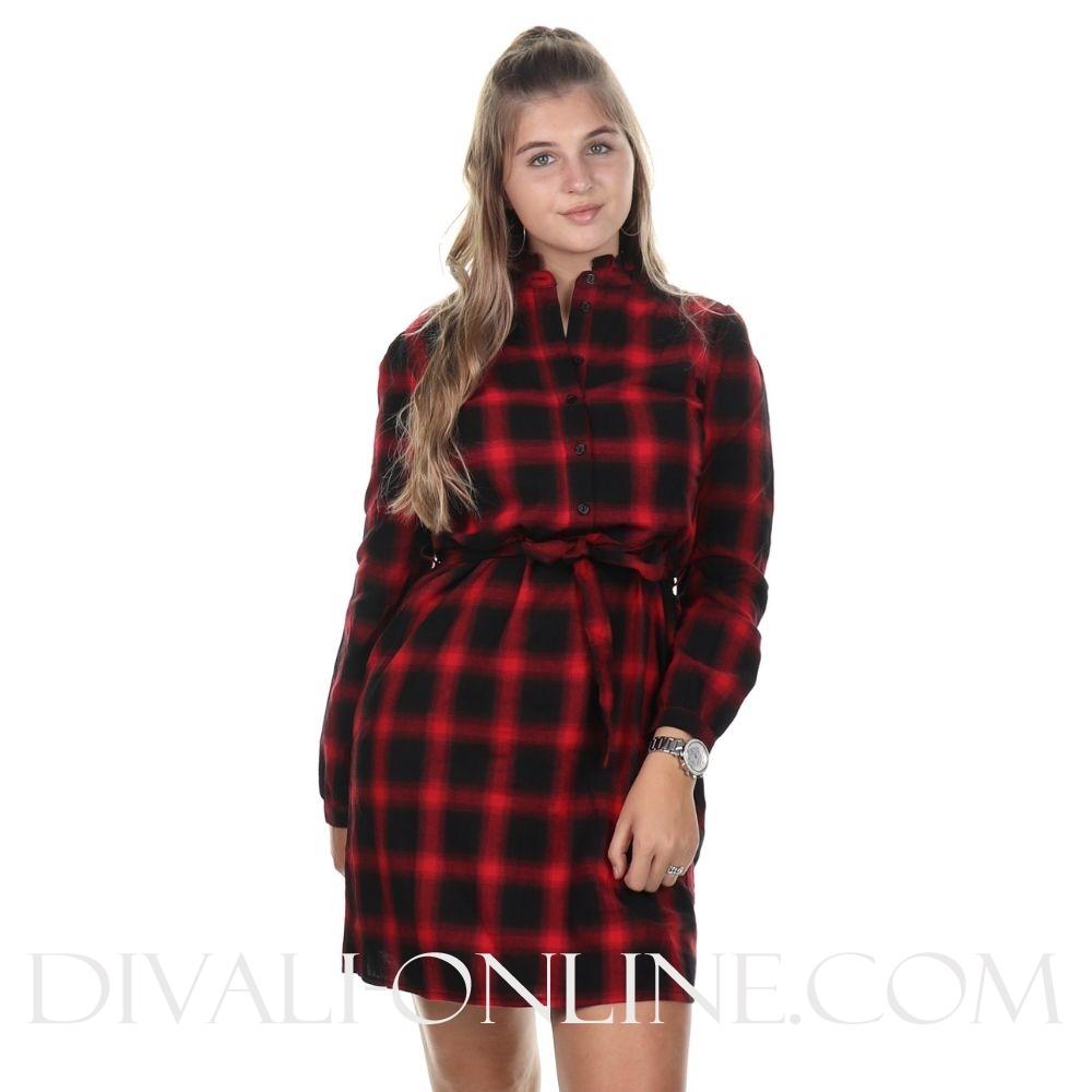 Jurk Dolly Black-red