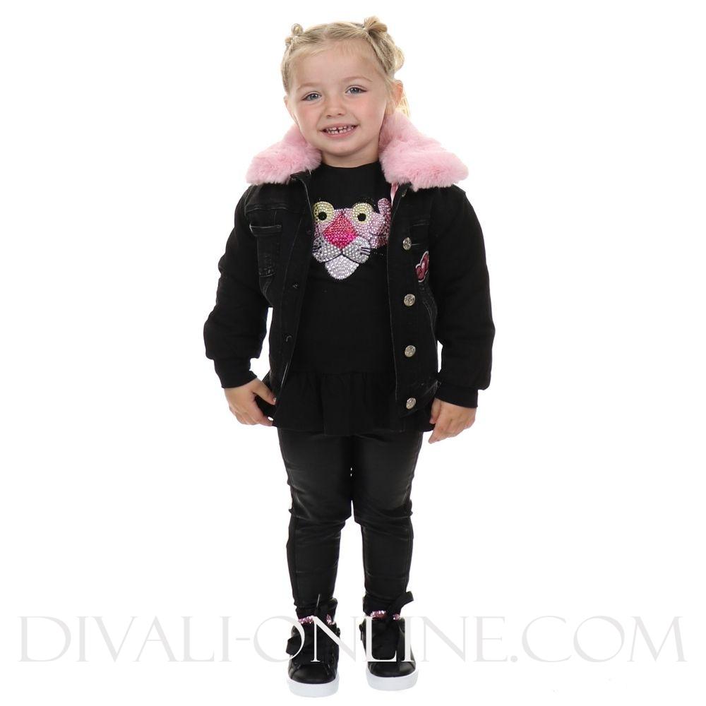 Spijkerbomber Pink Panther