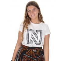 N Printed Logo Tshirt Blanc