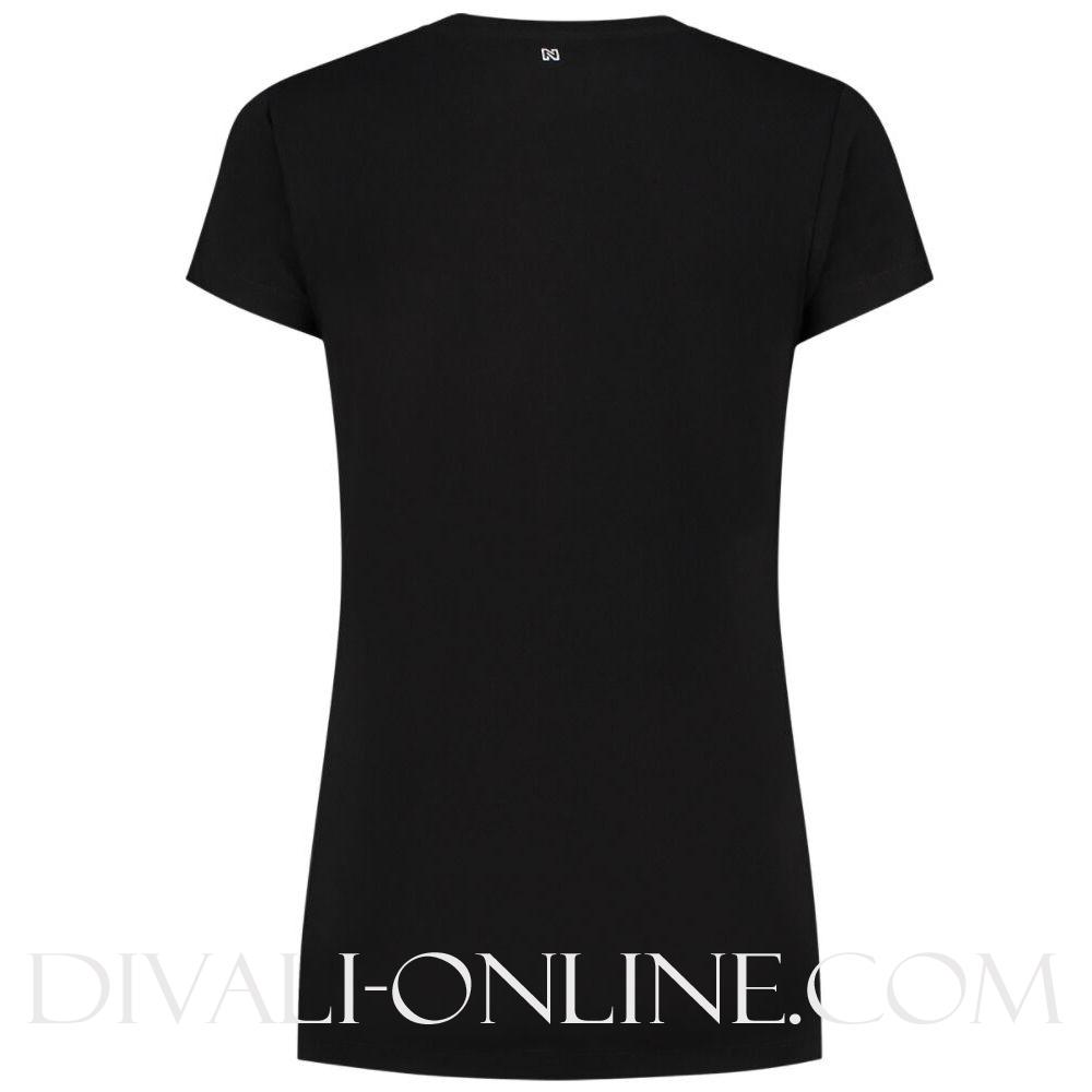 N Printed Logo Tshirt Black