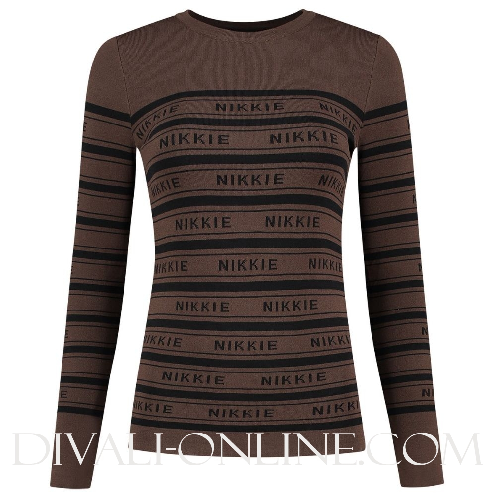 Nikkie Jolie Top Walnut/Black