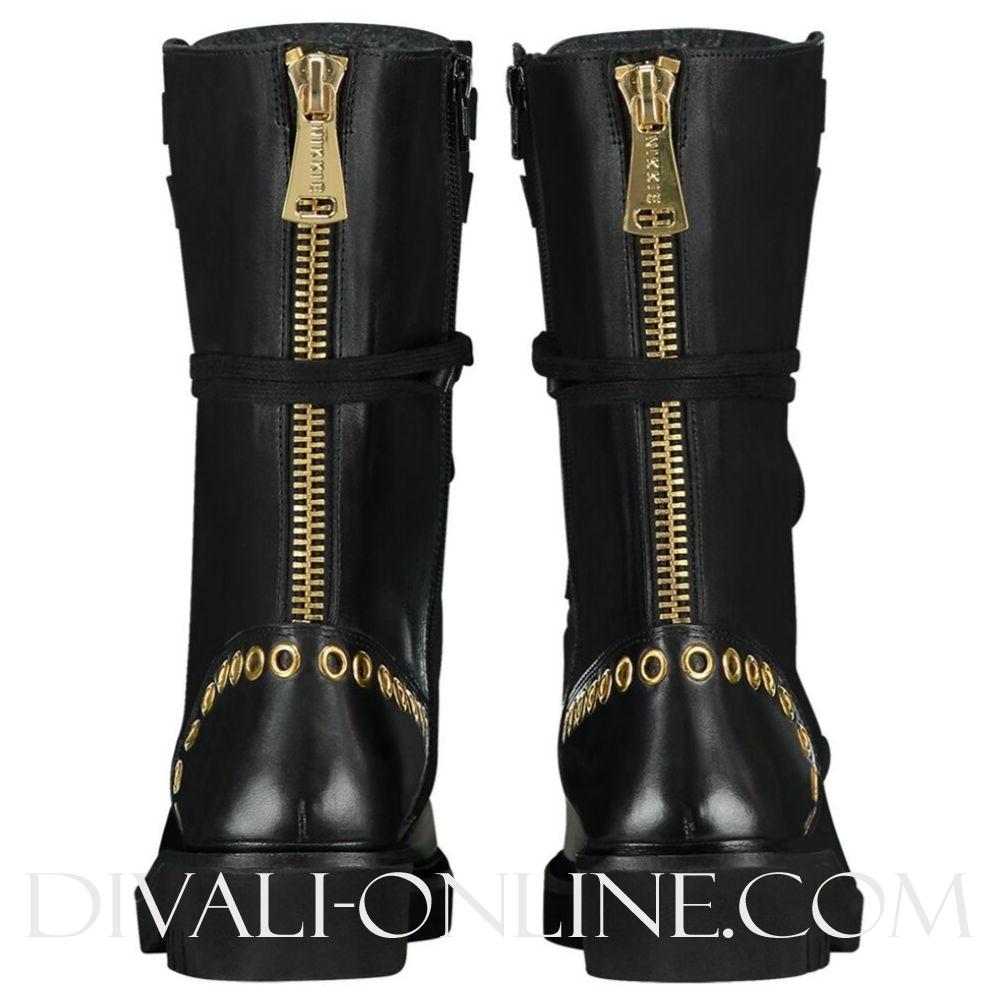 Eyelets Boots Black
