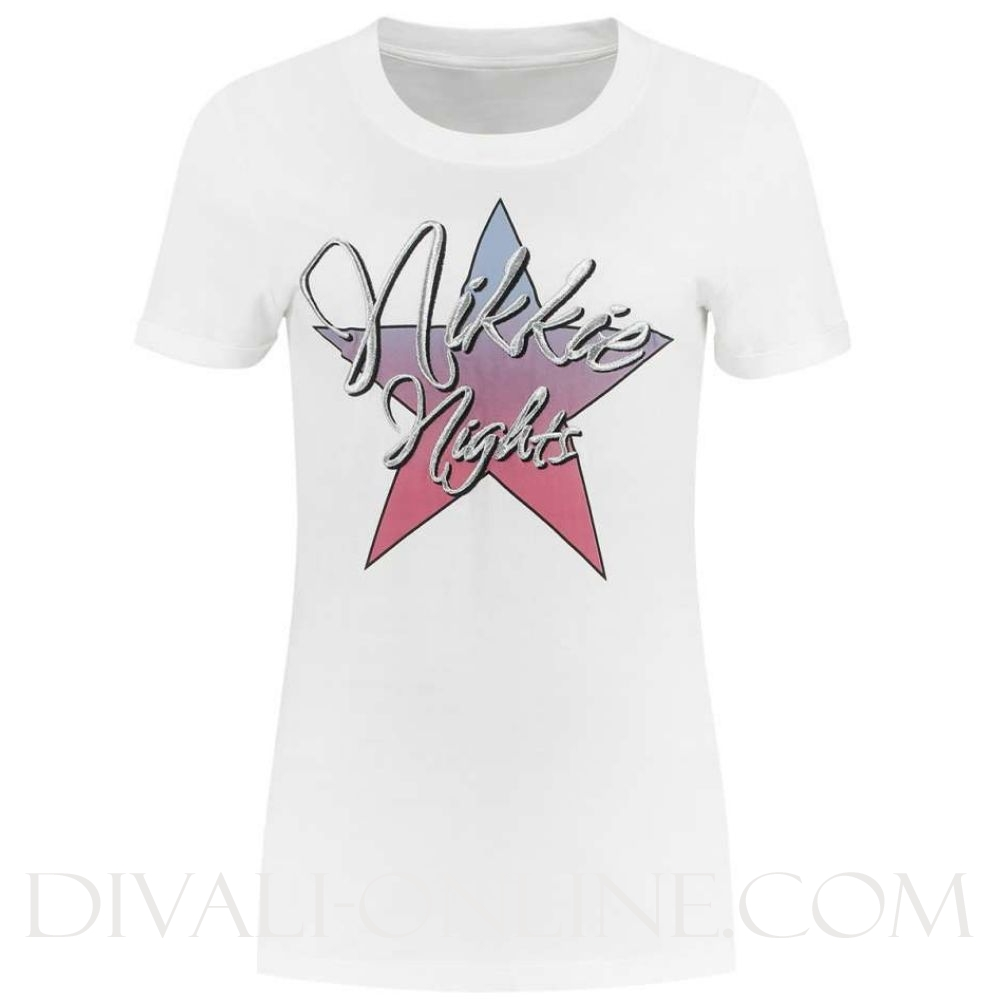 NIKKIE NIGHTS T-SHIRT - WIT