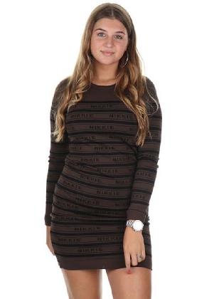 Nikkie Jolie Dress Walnut/Black