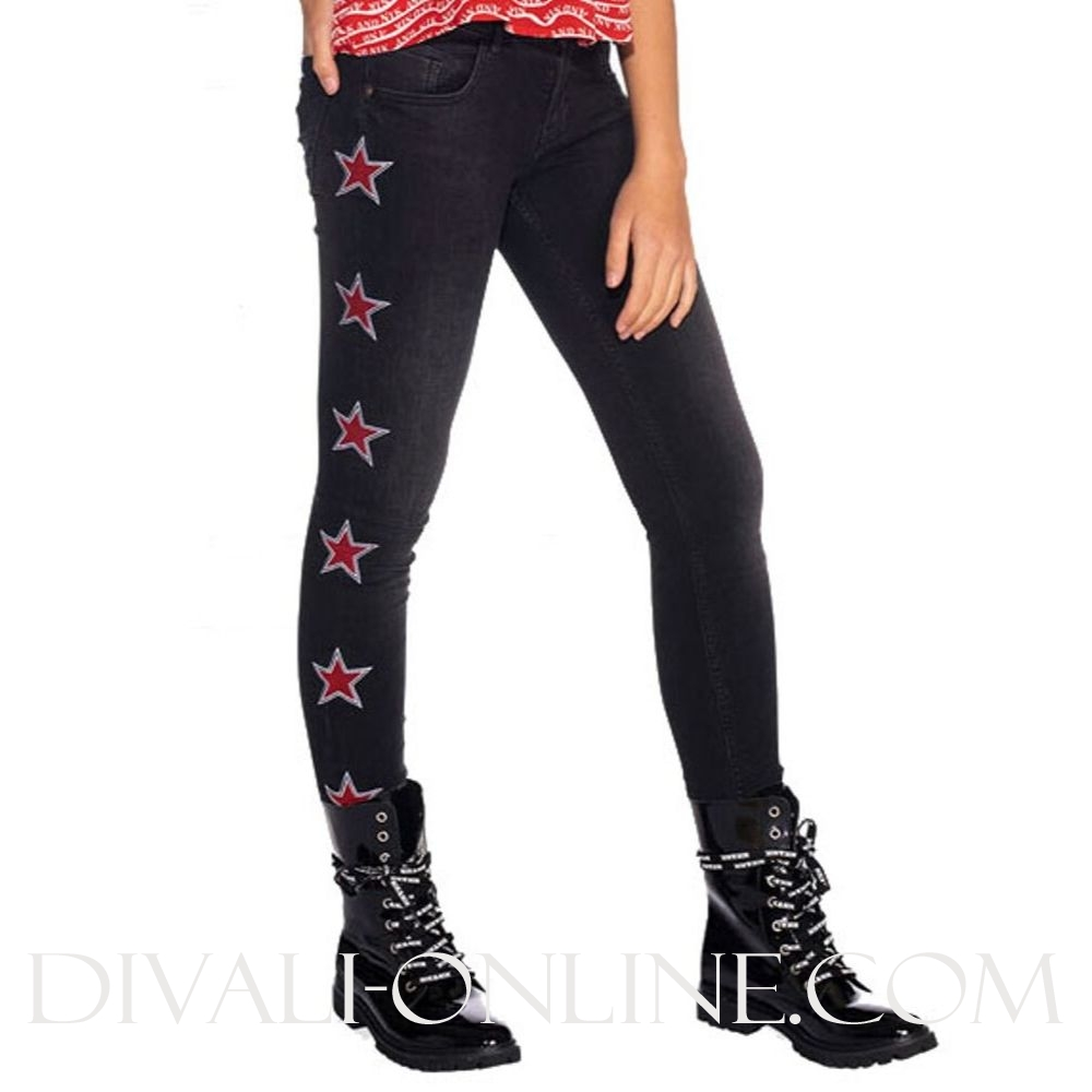 Fiona Star Denim Black Denim