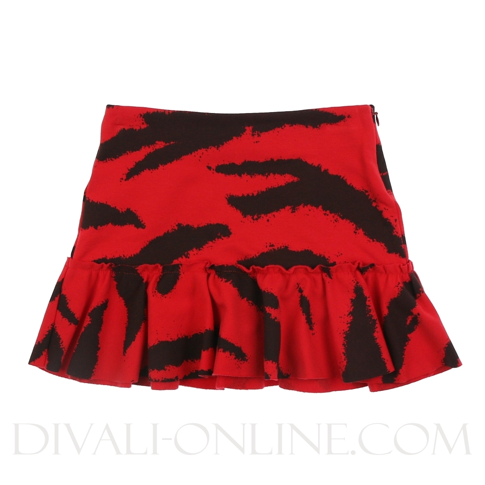 Skirt Tiger Red Black