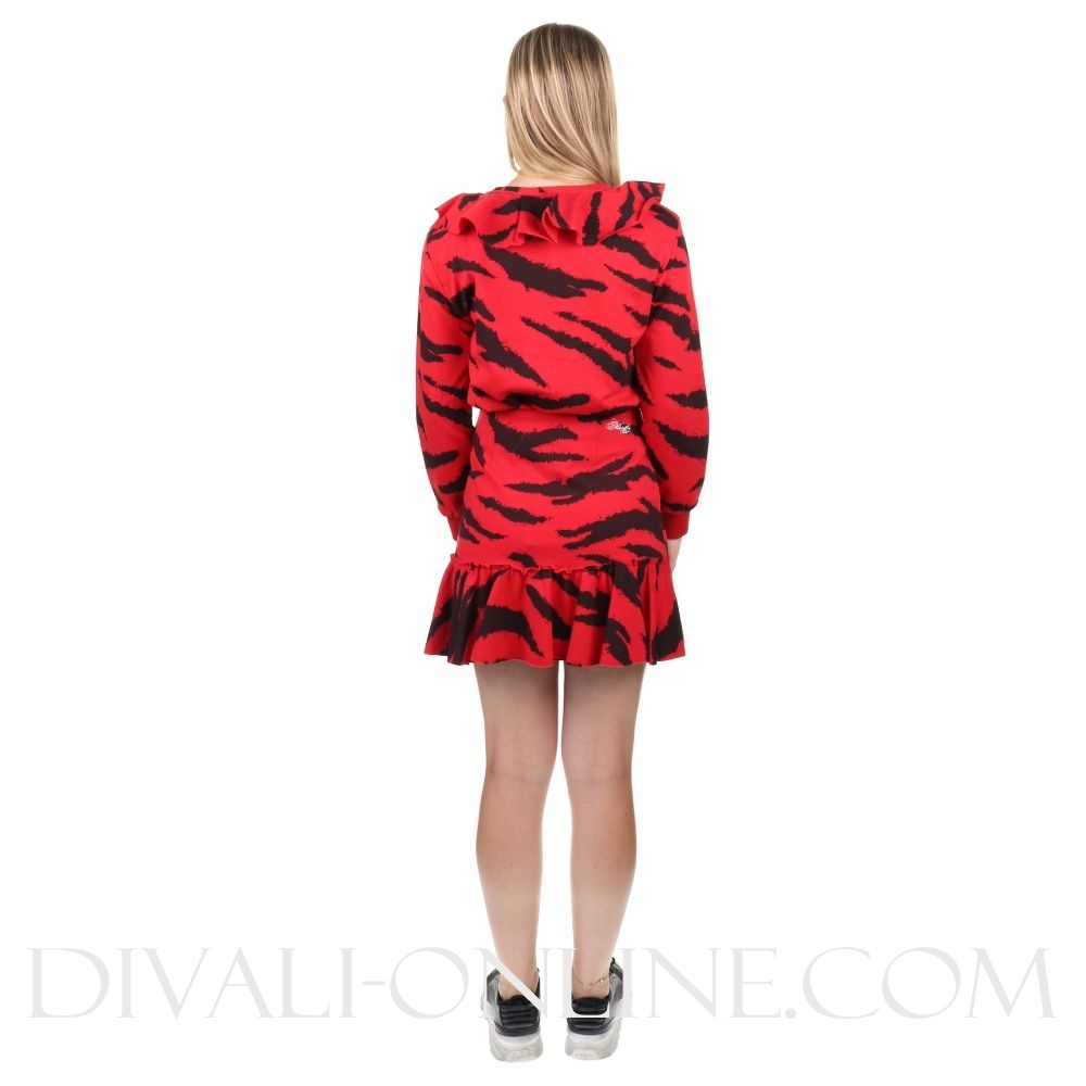 Sweater Tiger Red Black