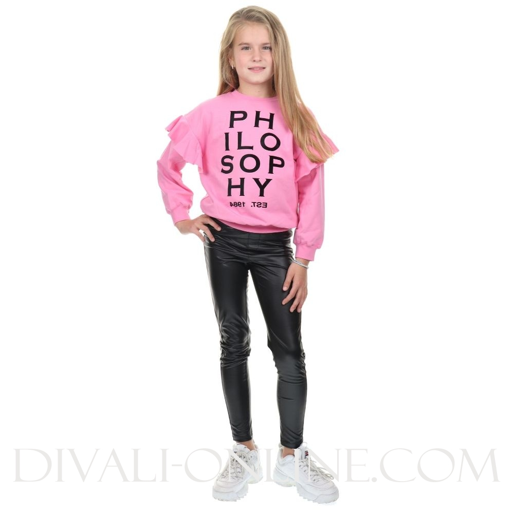 Sweater Ruffle Pink