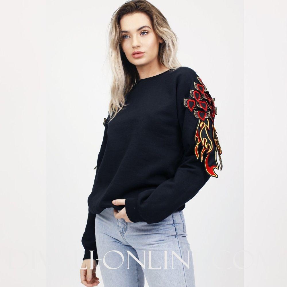 Heart Patch Sweatshirt