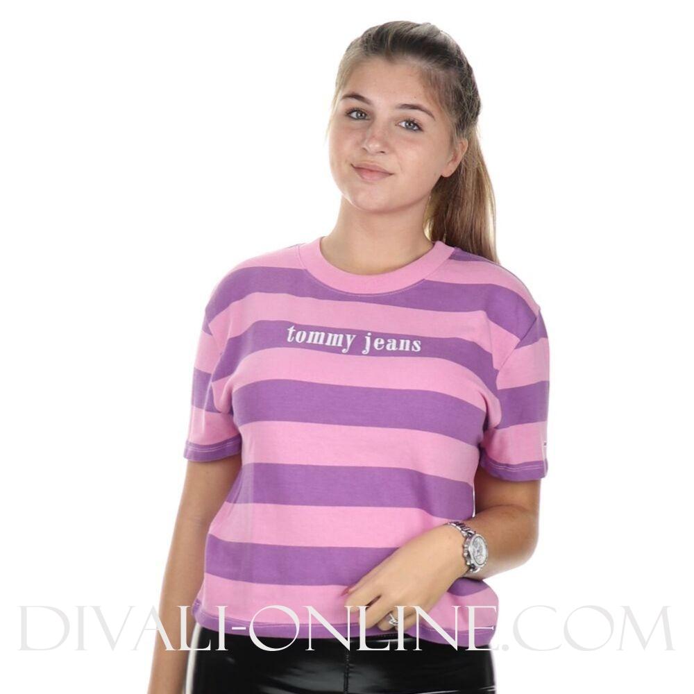 T-shirt Color stripe Hyacinth