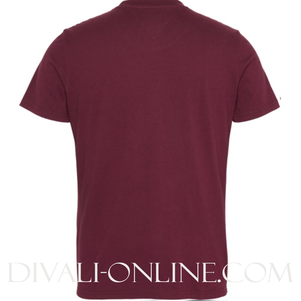 T-shirt Logo script Burgundy