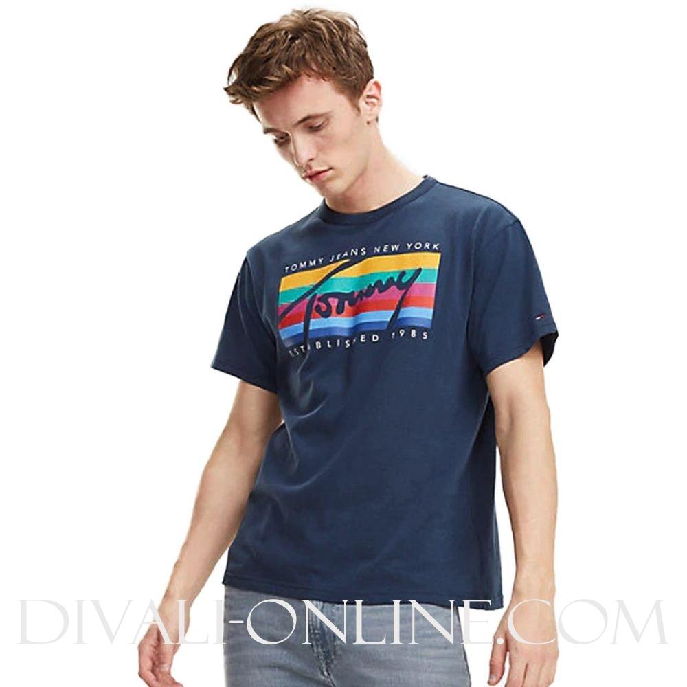 T-shirt Rainbow Blue-Black iris