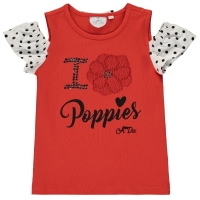 A Dee Cold Shoulder Poppies T-shirt Adaline Poppy Red