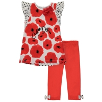 A Dee Poppy Print Tunic Set Aggi Poppy Red