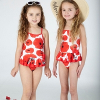 A Dee Poppy Swim Costume April Poppy Red