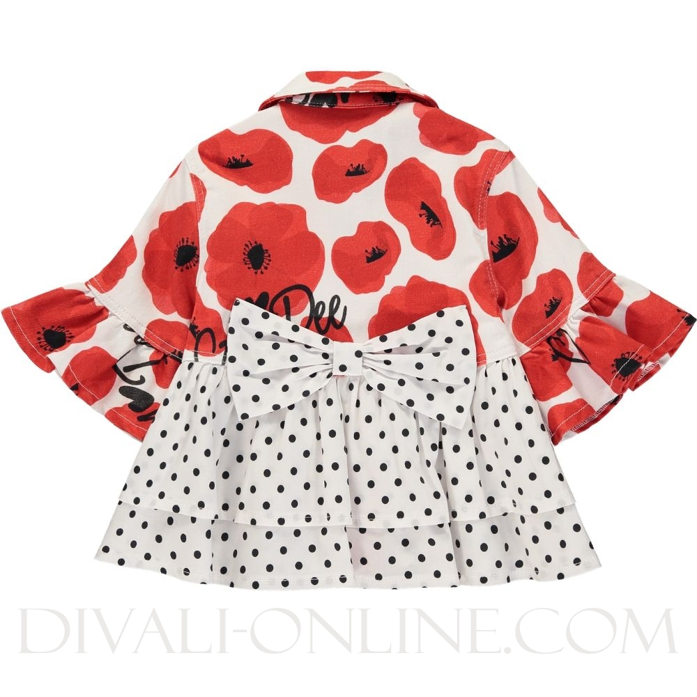 Poppy Print Denim Jacket Antoinette Poppy Red