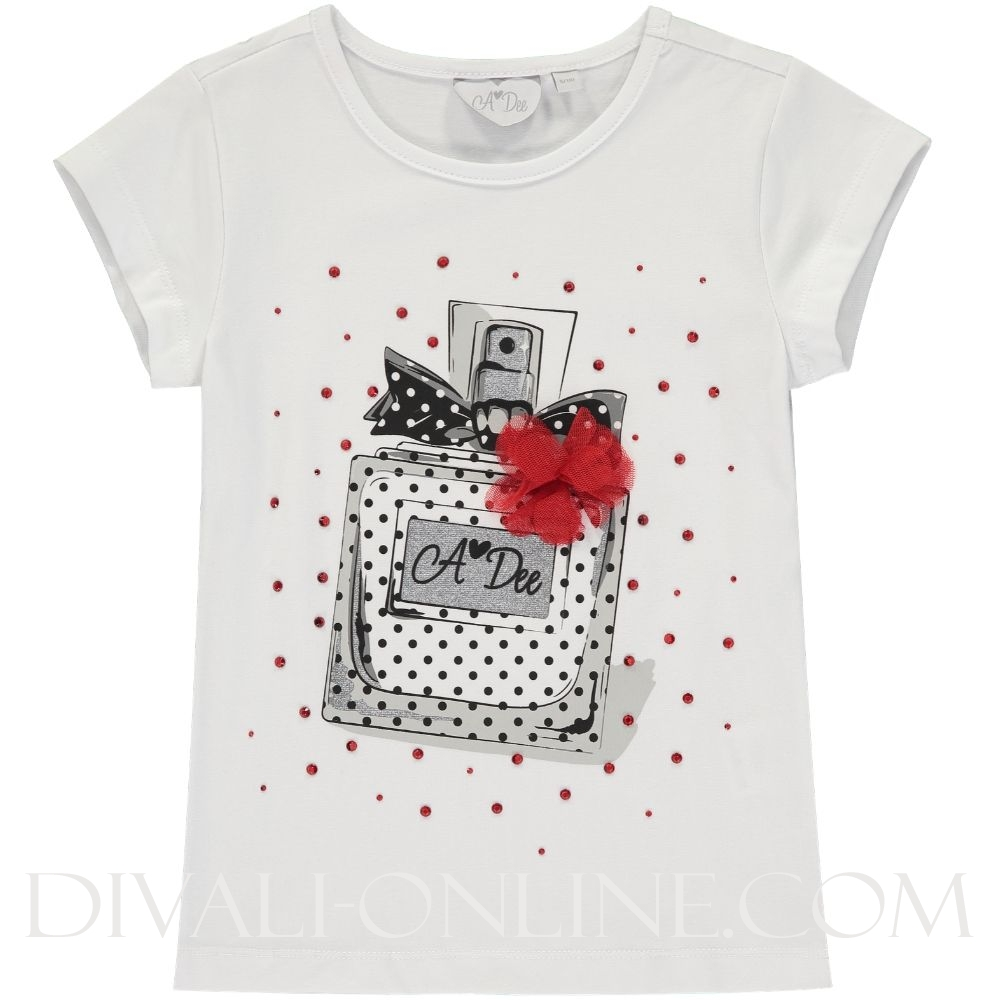 Perfume T-shirt Adena 1001 Bright White