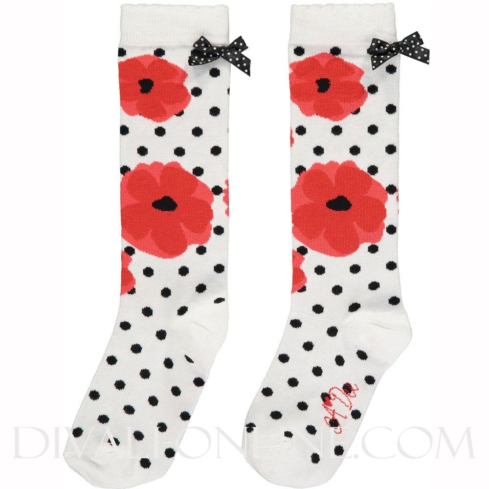 Poppy Knee High Sock Allyson Poppy Red