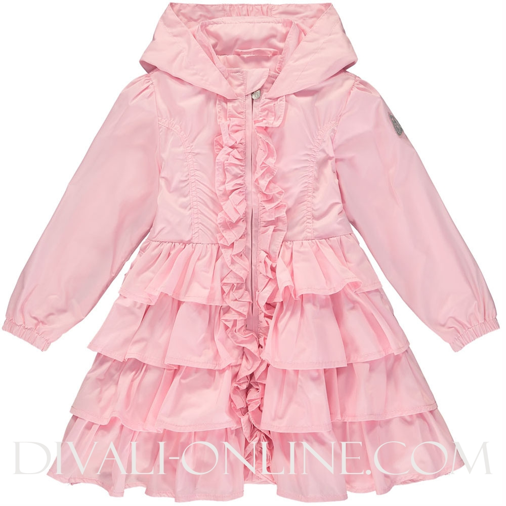 Frill Hooded Jacket Bali 4001 Pink Fairy