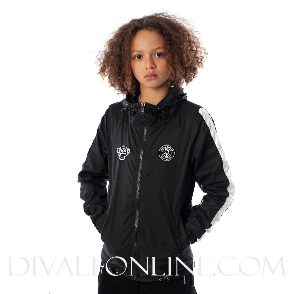 Striped jacket Black
