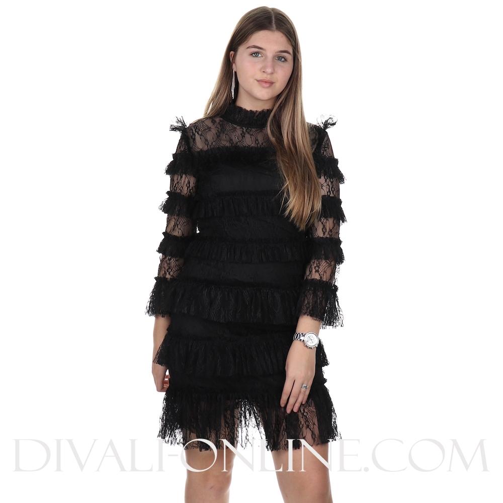 Carmine Mini Dress Black