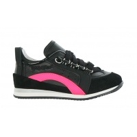 Sneaker Black-Neon pink