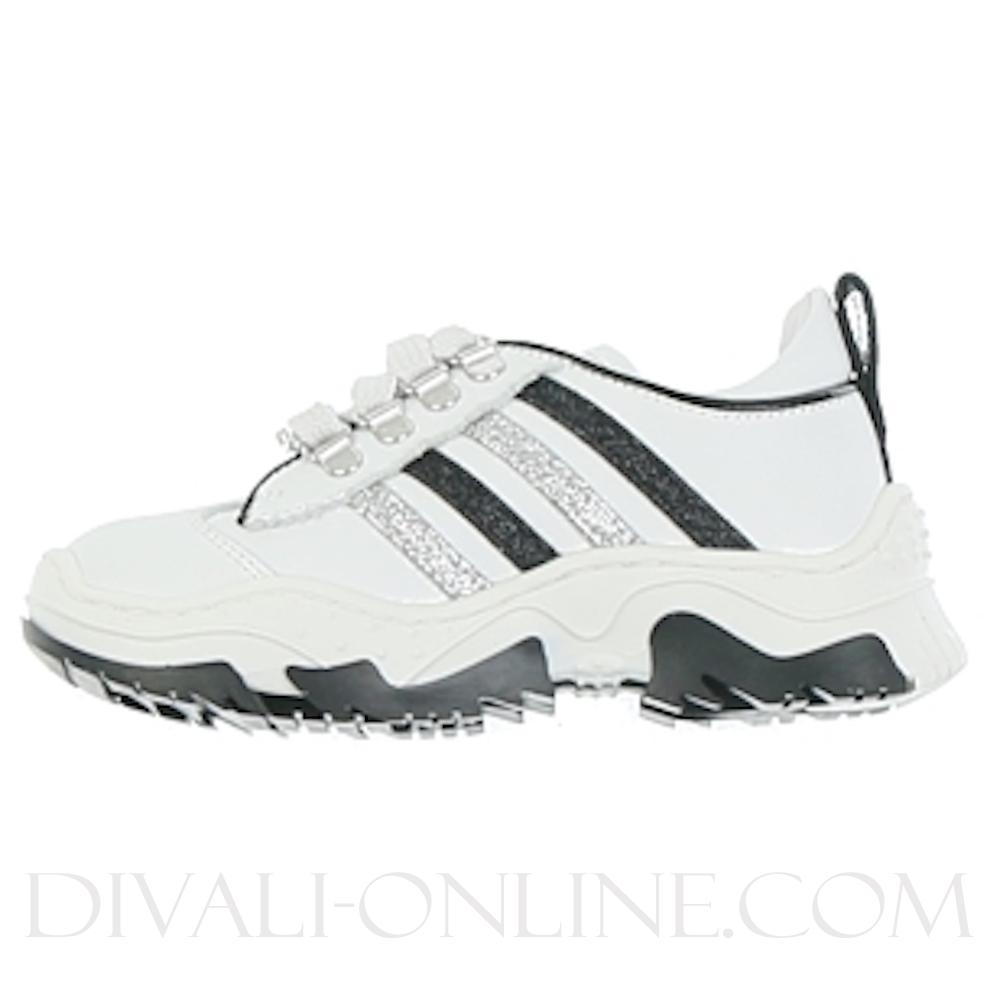 Sneaker WHITE, Silver-Black