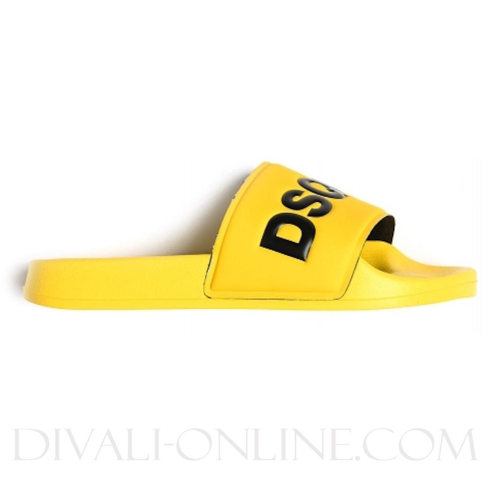 Slippers Dsquared2 Kid Slide - Slide Yellow/black