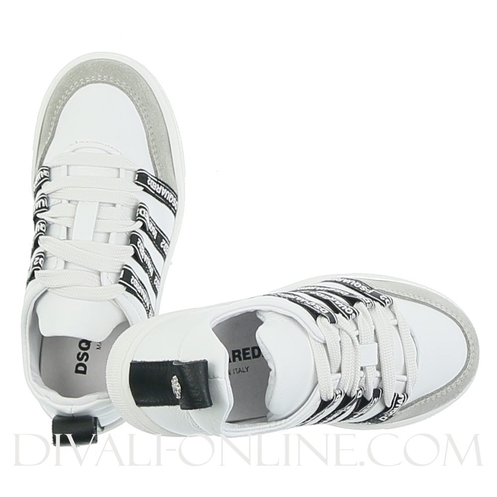 Low Top Lace Up Sneakers Pearl/white/black
