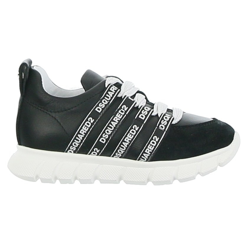 Low Top Lace Up Trainer Black