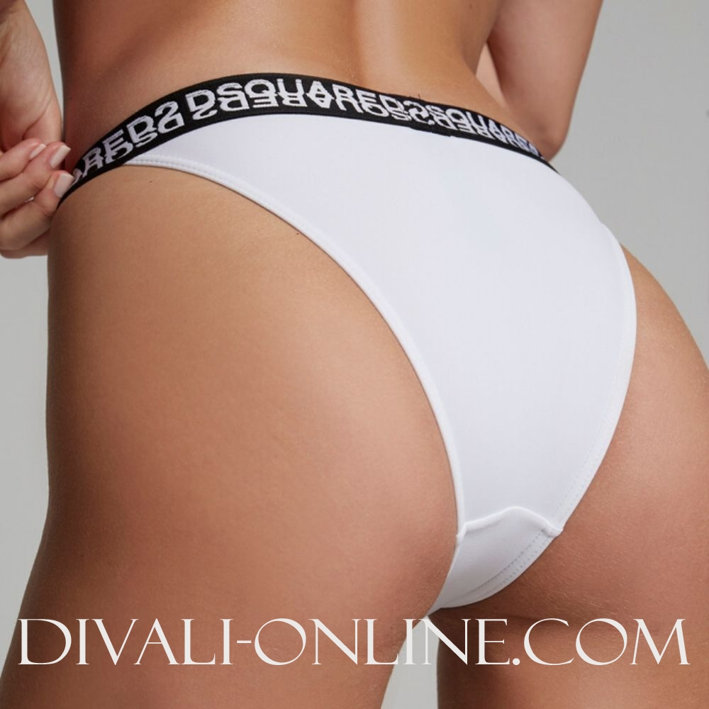 Swim Brief Dsquared2 Logo White
