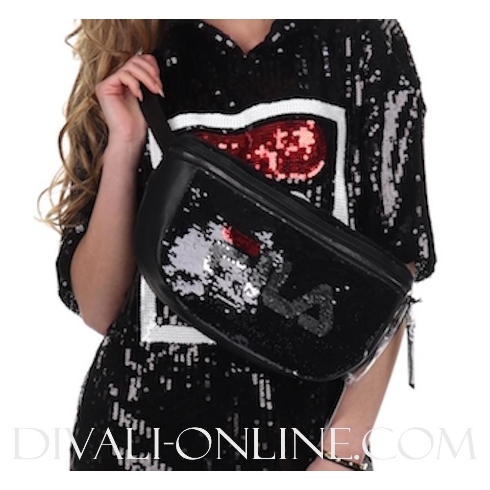 Women Sequin Bag Black