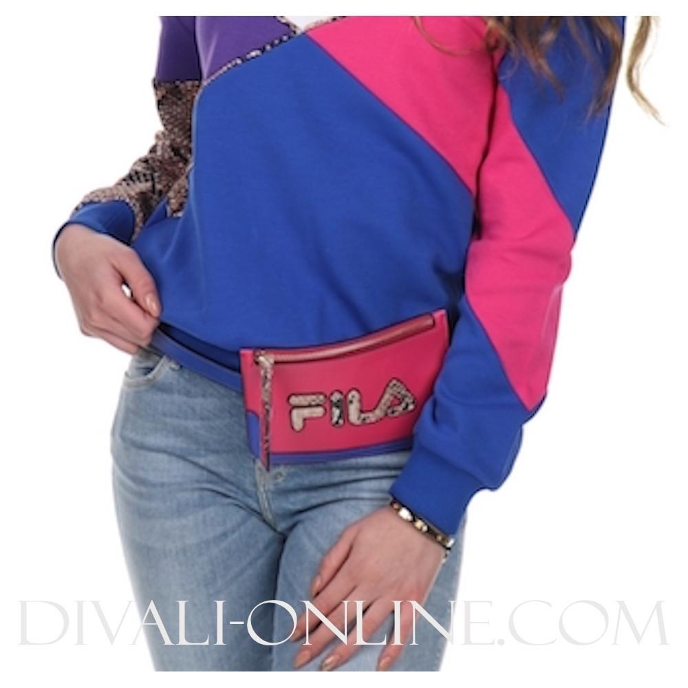 Women Belt Bag Royal Blue-gold Snake Allover-beetroot Purple