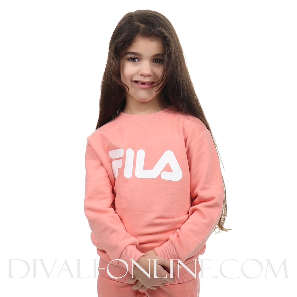 Kids Classic Logo Crew Sweat Lobster Bisque
