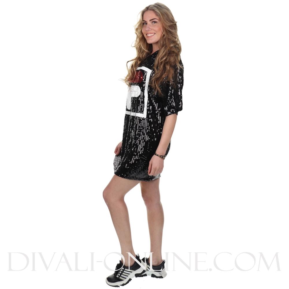 Women Mari Sequin Dress Black