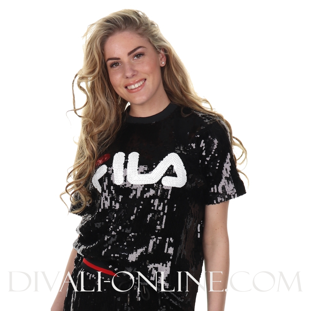 Women Kyo Sequin T-shirt Black