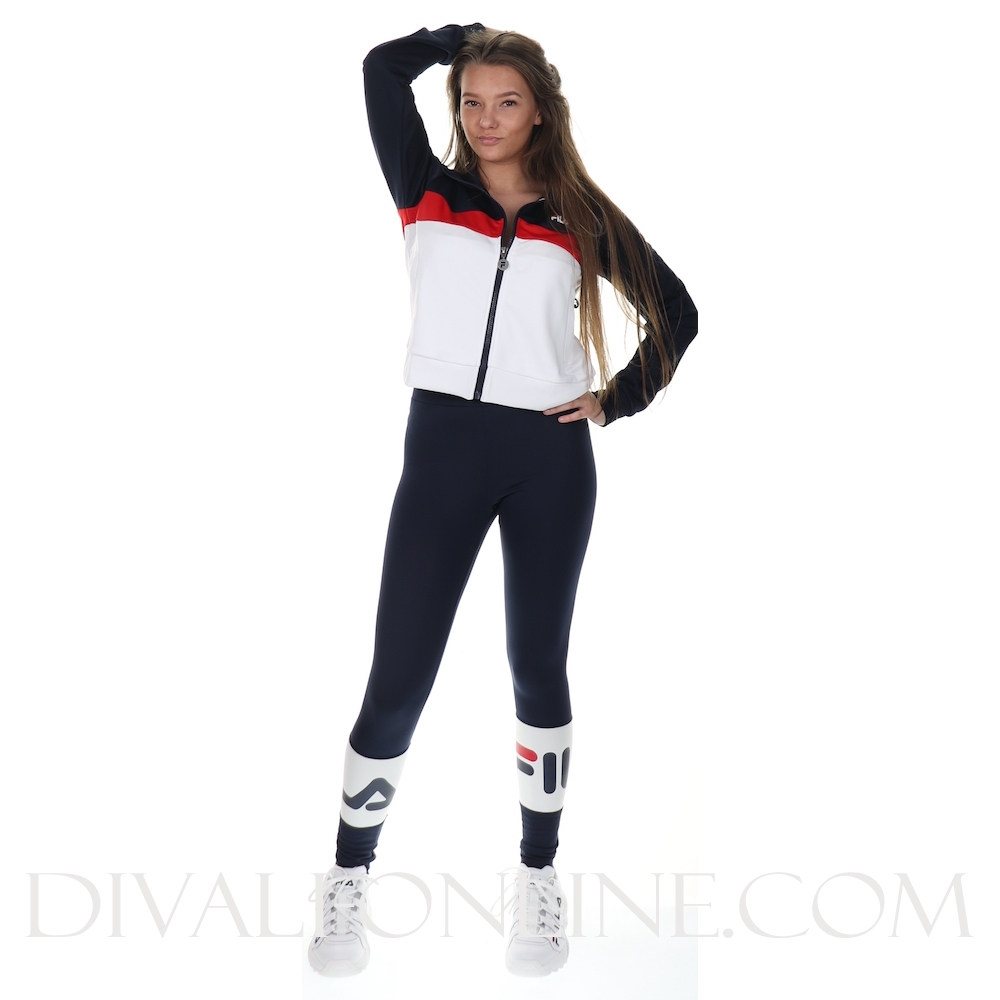Women Samah Track Jacket Black Iris-true Red-bright White