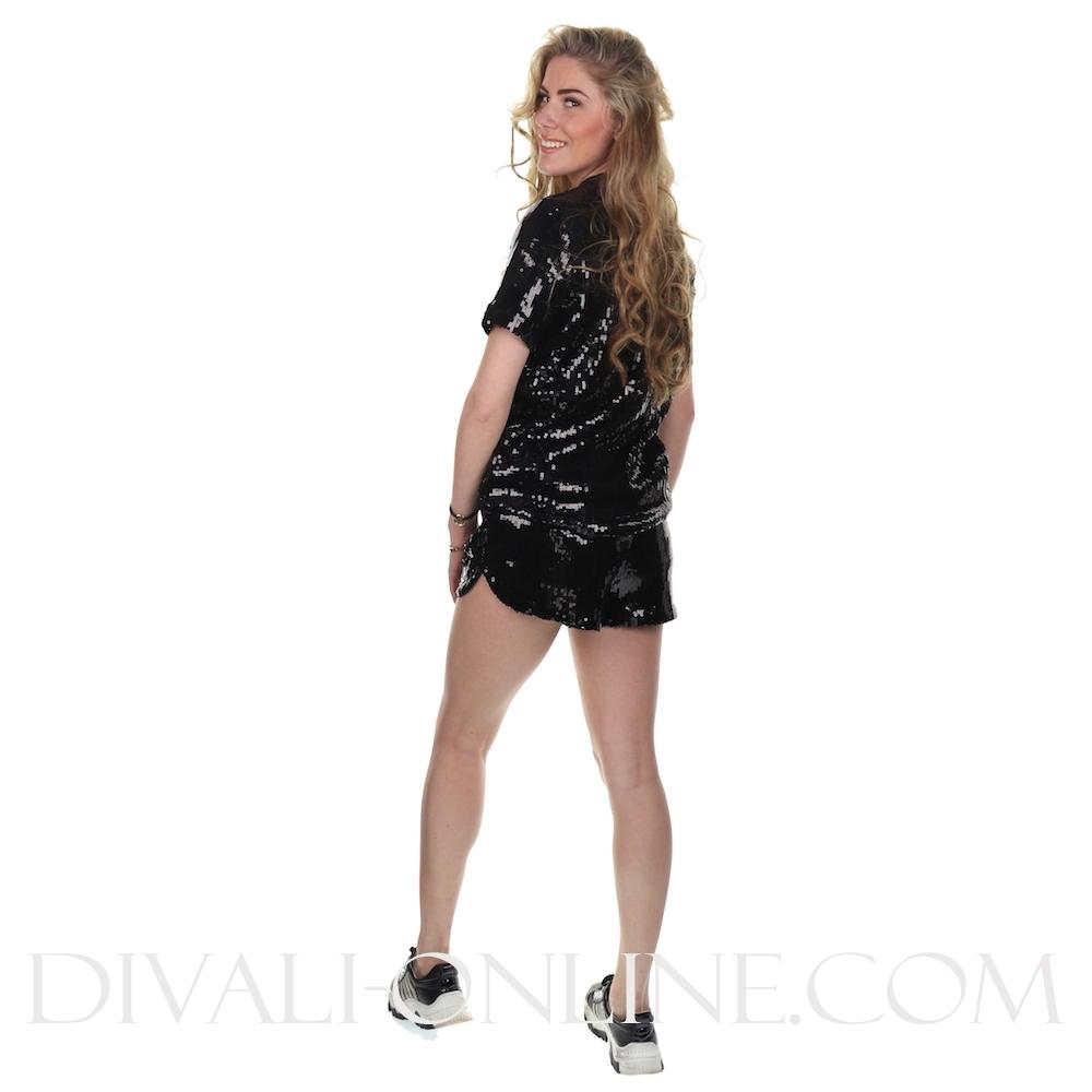 Women Kiku Sequin Shorts Black