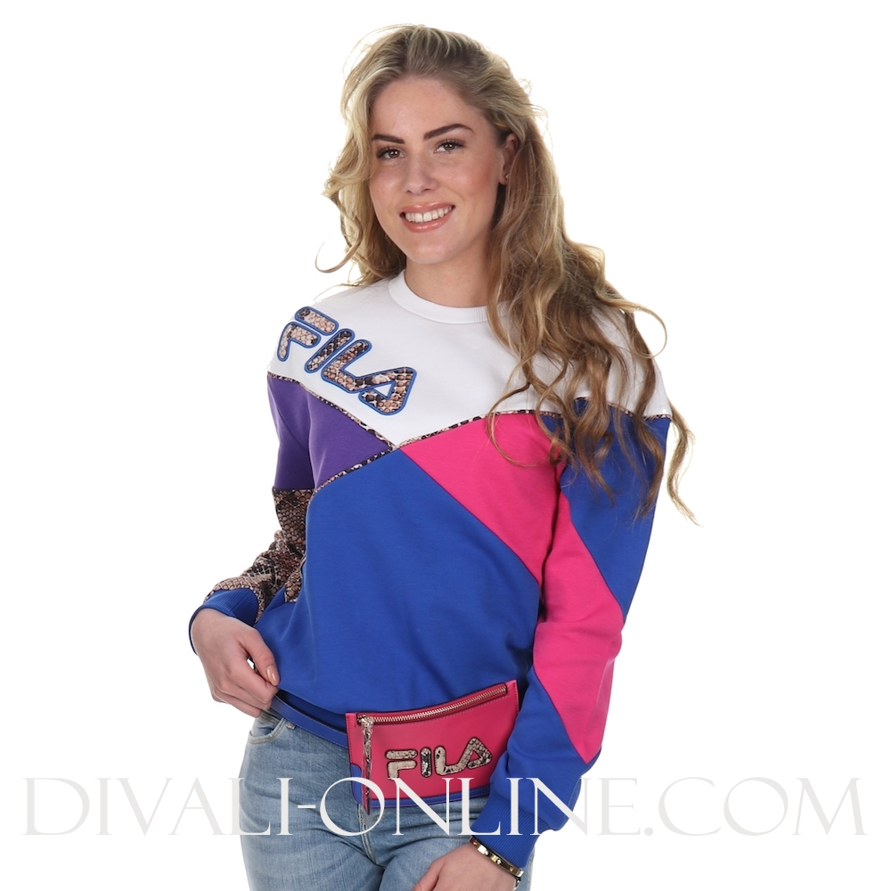Women Kana Crew Sweat Royal Blue-bright White-beetroot Purple-ul