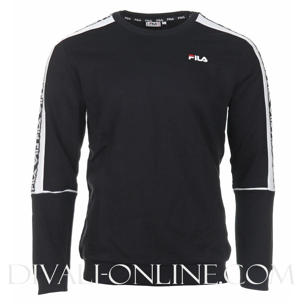 Men Teom Crew Sweat Black-bright White