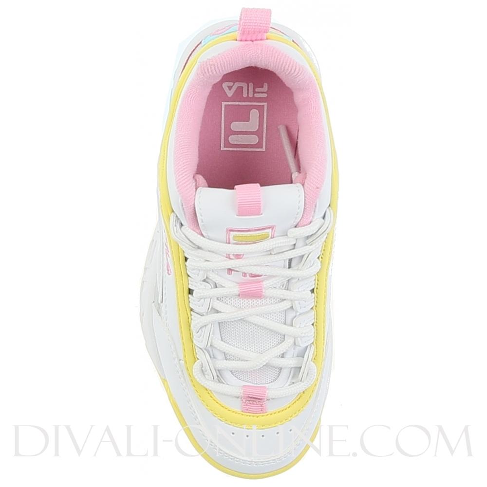Kids Sneaker Disruptor CB White-Limelight